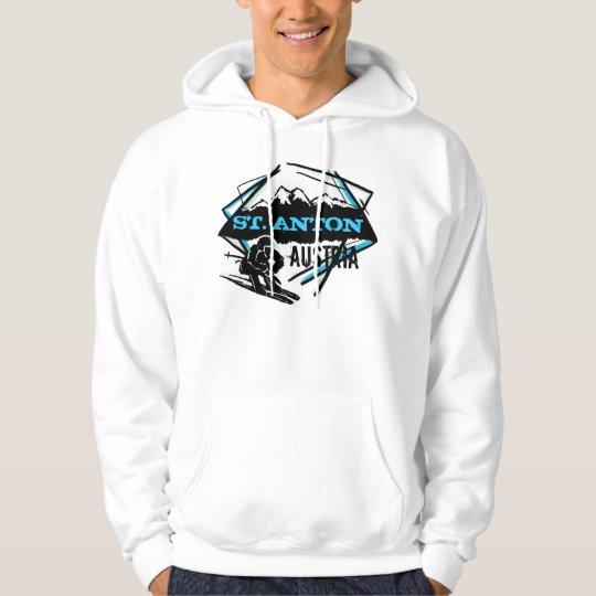 St. Anton Austria ski mountain winter hoodie