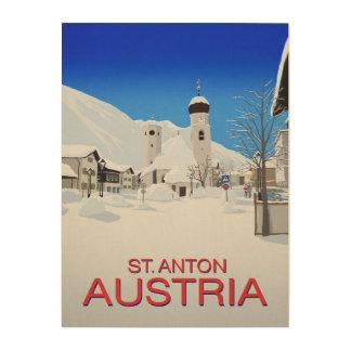 St. Anton Austria Wood Print