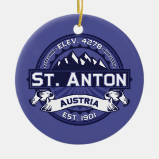 St. Anton Logo Midnight Ceramic Ornament
