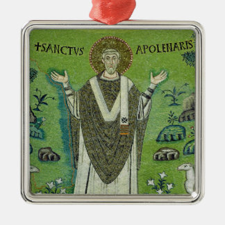 St. Apollinare Silver-Colored Square Ornament