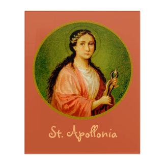 "St. Apollonia (BLA 001) 16""x20"" Acrylic Print"