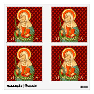 "St. Apollonia  (VVP 001) 12""x12"" 4-Up Square Wall Sticker"
