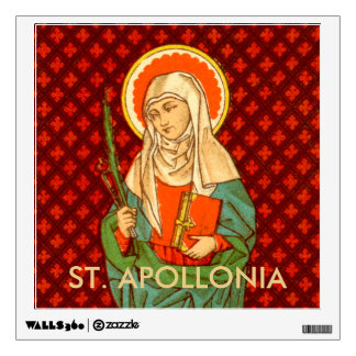 "St. Apollonia  (VVP 001) 12""x12"" Square Wall Sticker"