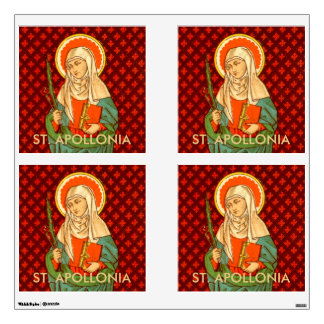 "St. Apollonia  (VVP 001) 30""x30"" 4-Up Square Wall Sticker"