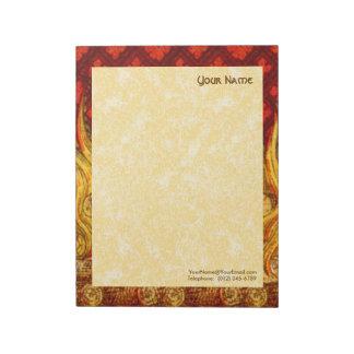"St. Apollonia's Flames (VVP 001a) 11""x8.5"" Vert Notepad"