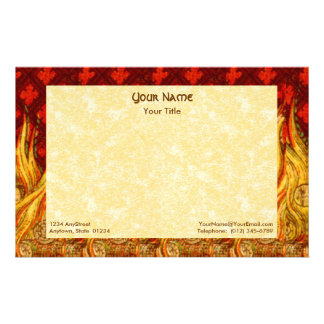 """St. Apollonia's Flames (VVP 01) 8.5""""x5.5"""" Hor #2a Stationery"""
