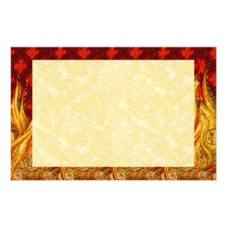 """St. Apollonia's Flames (VVP 01) 8.5""""x5.5"""" Hor #2b Stationery"""
