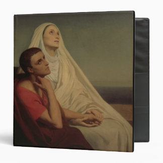 St. Augustine and his mother St. Monica, 1855 Vinyl Binder