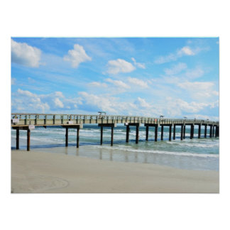 St. Augustine Beach Fishing Pier Poster