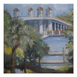 St Augustine Bridge of Lions Poster