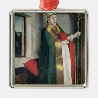 St. Augustine  c.1435 Silver-Colored Square Ornament