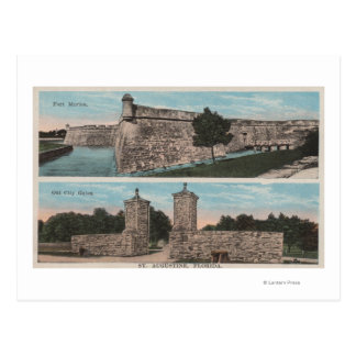 St. Augustine, FL - View of Ft. Marion & City Postcard