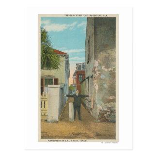 St. Augustine, FL - View of Treasury Street & Postcard
