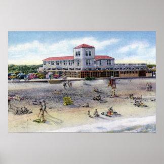 St Augustine Florida Beach Scene Poster