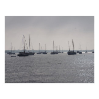 St. Augustine Florida Boats on the ocean poster FL