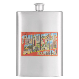 St Augustine Florida FL Vintage Travel Souvenir Flask
