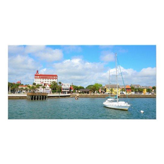 St. Augustine, Florida Riverfront Customized Photo Card
