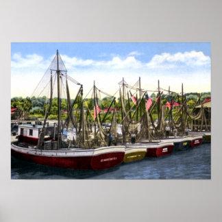 St. Augustine Florida Shrimp Boats Poster