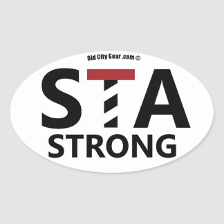 St. Augustine, Florida - STA STRONG Oval Sticker