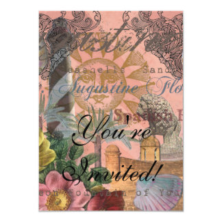 St. Augustine Florida Vintage Collage Card