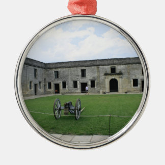 St Augustine Fort Castillo de San Marcos II Metal Ornament