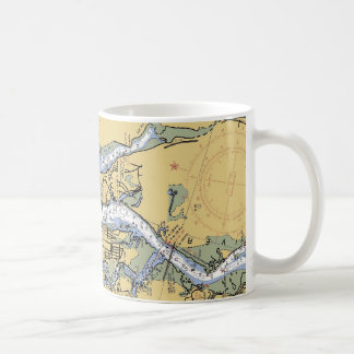 St. Augustine Harbor Navigation Chart Coffee Mug