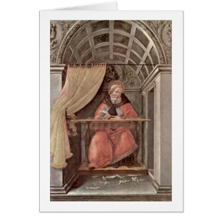 St. Augustine In Exam By Sandro Botticelli Card