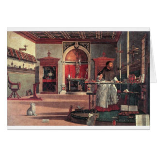 St. Augustine in His Study - Vittore Carpaccio Card