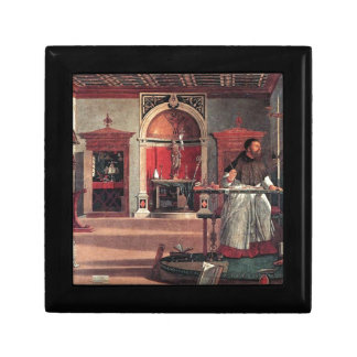 St. Augustine in His Study - Vittore Carpaccio Keepsake Boxes
