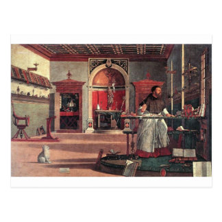 St. Augustine in His Study - Vittore Carpaccio Postcard