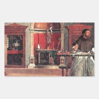 St. Augustine in His Study - Vittore Carpaccio Sticker