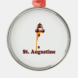 St Augustine. Metal Ornament