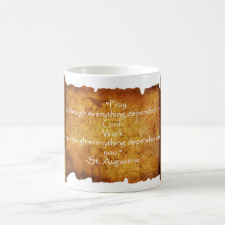 St. Augustine Timeless Quote: Prayer / Work Coffee Mug