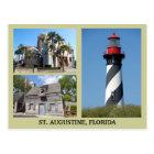 St. Augustine Tourist Sites Postcard