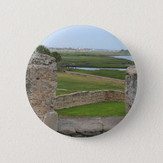 St Augustine view from castle 2 Inch Round Button
