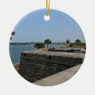 St Augustine View from fort towards bridge Ceramic Ornament