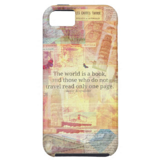 St. Augustine  World is a Book travel quote iPhone 5 Covers