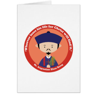 St. Augustine Zhao Rong Card