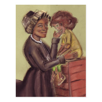 St Bakhita and Child Postcard