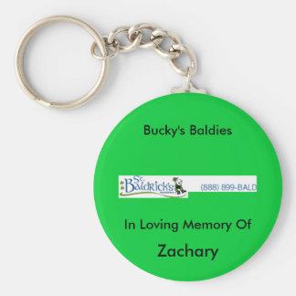 st_baldricks_logo, Bucky's Baldies, In Loving M... Keychain