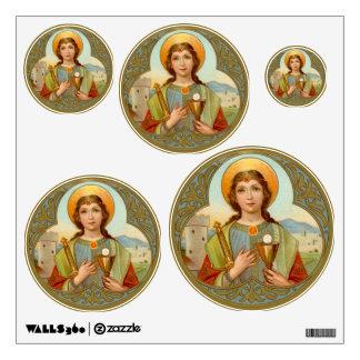 "St. Barbara (BK 001) 12""x12"" 5-Up Variable Circ Wall Sticker"