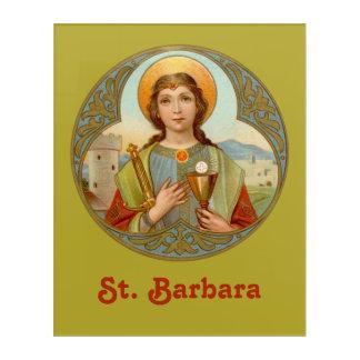 "St. Barbara (BK 001) 16""x20"" Acrylic Print"