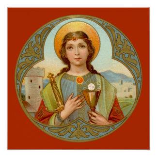 "St. Barbara (BK 001) 20""x20"" Poster #3"