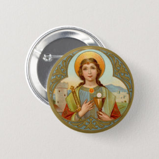 St. Barbara (BK 001) 2 Inch Round Button