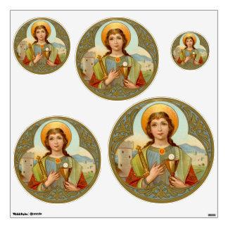 "St. Barbara (BK 001) 30""x30"" 5-Up Variable Circ Wall Sticker"