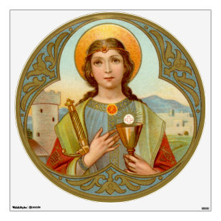 "St. Barbara (BK 001) 30""x30"" Circular Wall Sticker"