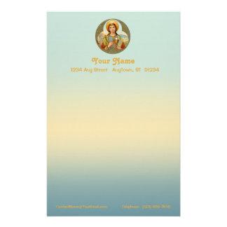 "St. Barbara (BK 001) 5.5""x8.5"" Vert #2a Stationery"