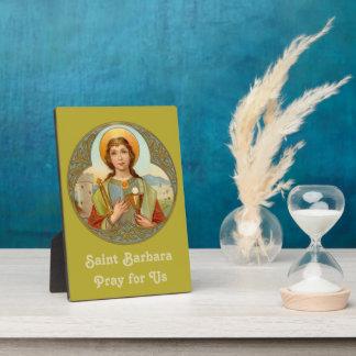 "St. Barbara (BK 001) 5""x7"" Plaque"