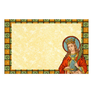 "St. Barbara (BK 001) 8.5""x5.5"" Horizontal #1b Stationery"