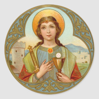 St. Barbara (BK 001) Classic Round Sticker